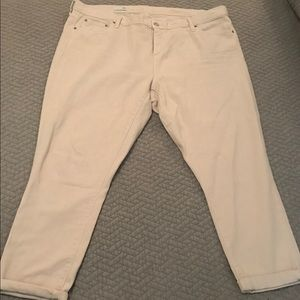Size 35 Gap Cream Girlfriend Jeans
